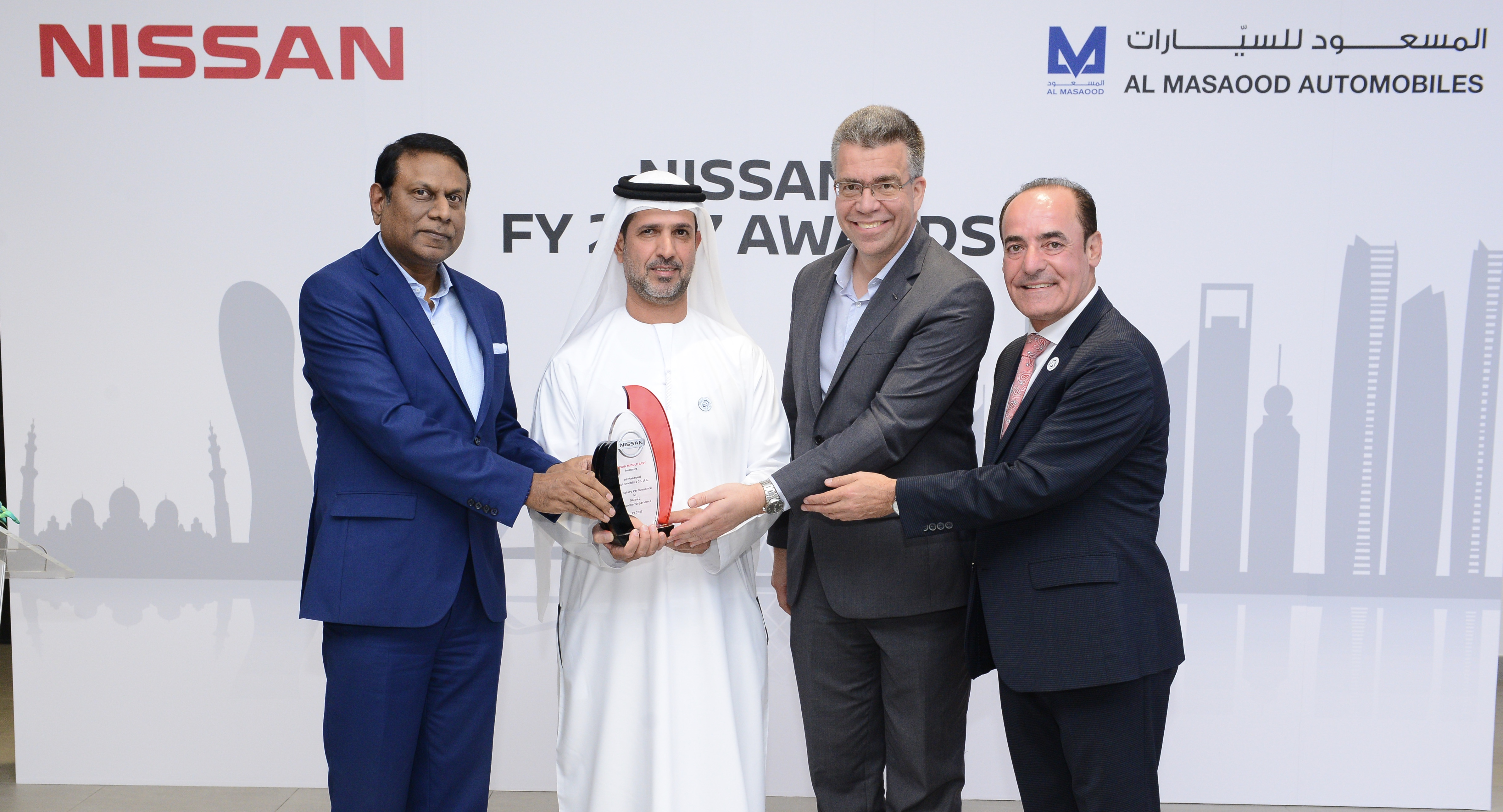 Nissan Awards Al Masaood Automobiles for Outstanding Sales and Customer Service