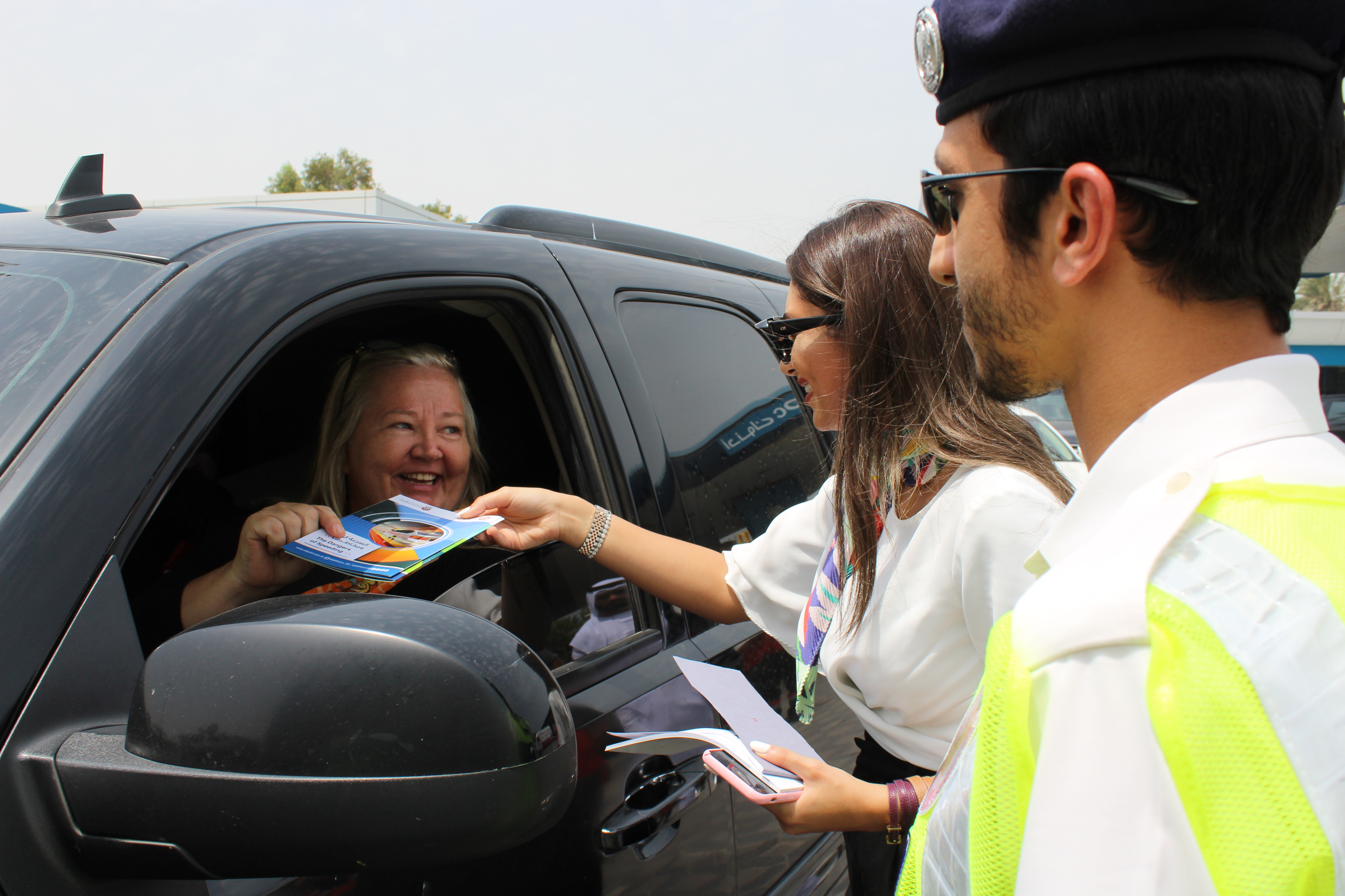 Al Masaood TBA and Abu Dhabi Police offer free tyre checks as part of joint road safety campaign