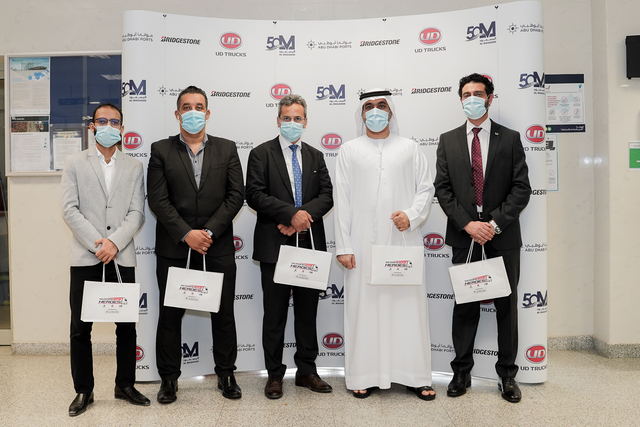 "Al Masaood, UD Trucks, and Bridgestone Join Forces for ""serving our heros"" campaign"