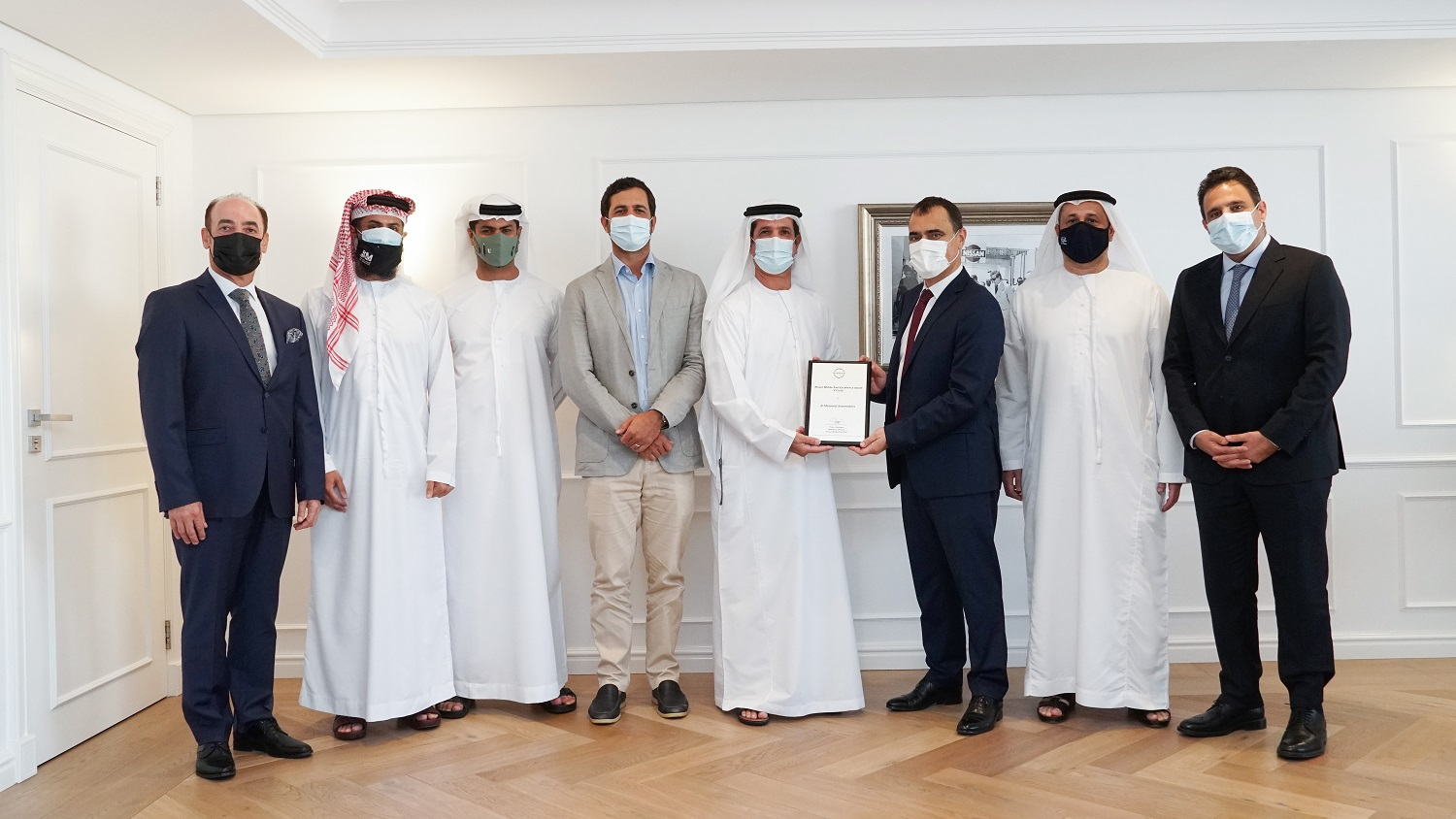 Al Masaood Automobiles receives 'Nissan Award of Excellence' for Outstanding Performance